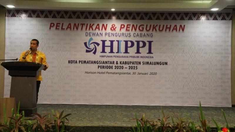 DPC HIPPI Siantar dan HIPPI Simalungun Dikukuhkan, Walikota Siantar Ajak HIPPI Bersinergi dan Berkontribusi