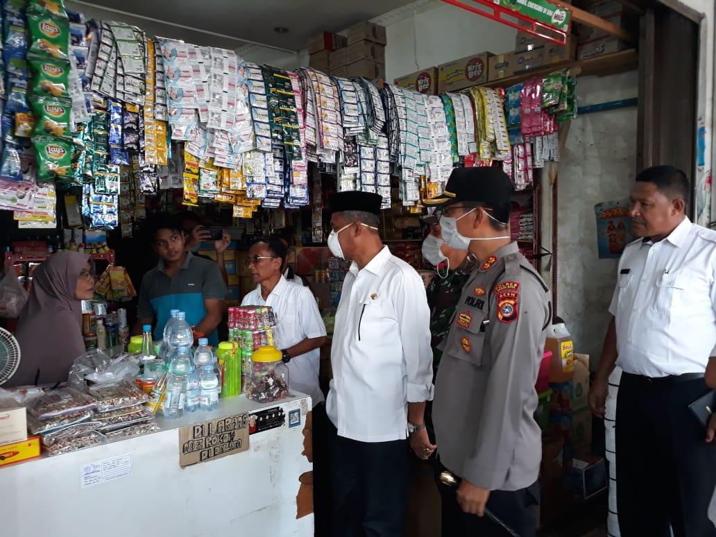 Bupati Nagan Raya bersama Forkopimda Sidak Pasar