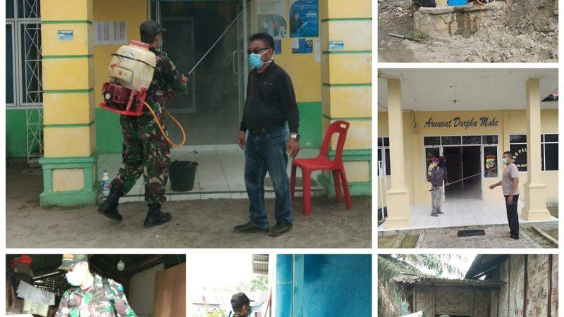 Antisipasi Penyebaran COVID-19, Kades Tebing Tinggi Bersama Muspika Kecamatan Tanjung Beringin Terus Giat Semprot Desinfektan
