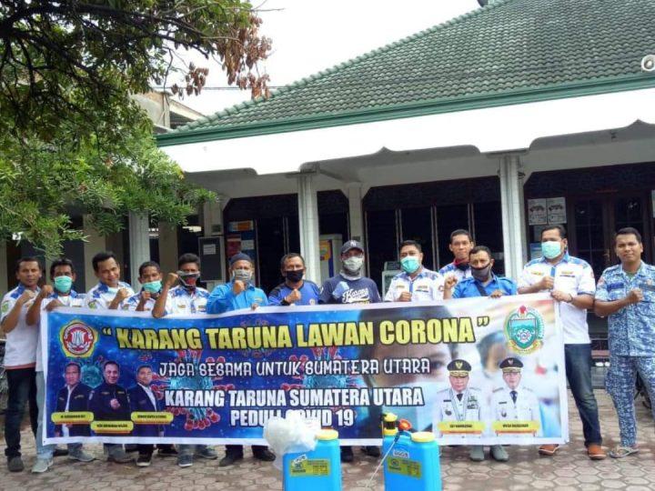 Karang Taruna Prov Sumut dan Kota Medan Terus Melawan Penyebaran C-19 Coronavirus