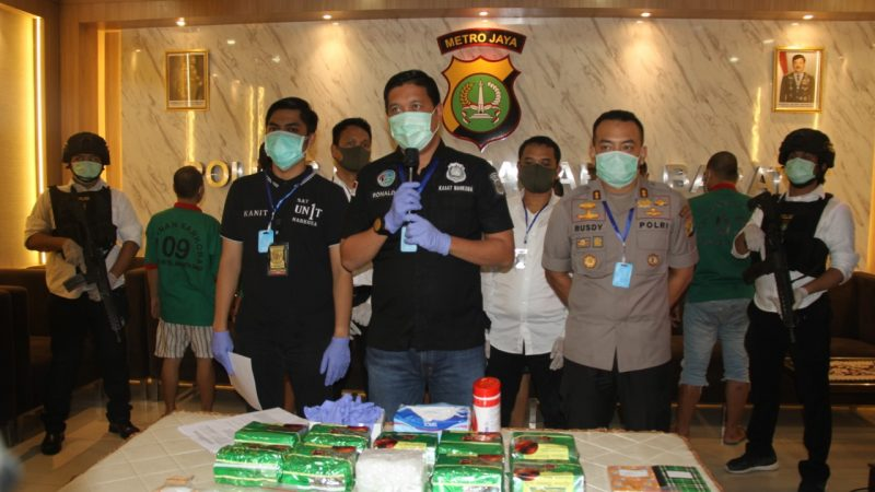 Sebanyak 127,6 gram Sabu Berhasil Diamankan Satnarkoba Polres Metro Jakarta Barat