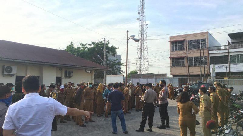 Polsek Medan Labuhan Laksanakan Apel Bersama Terkait Antisipasi Wabah Covid 19