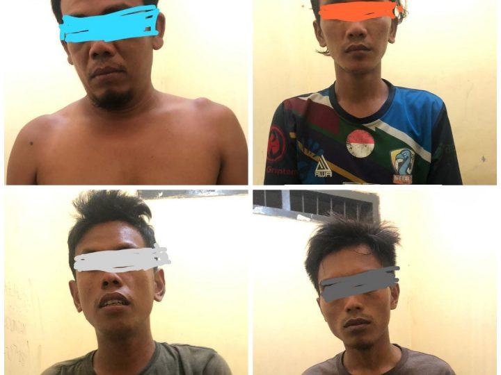 Empat Pria Diduga Pelaku Narkoba Diciduk Polsek Loa Kulu – Kukar