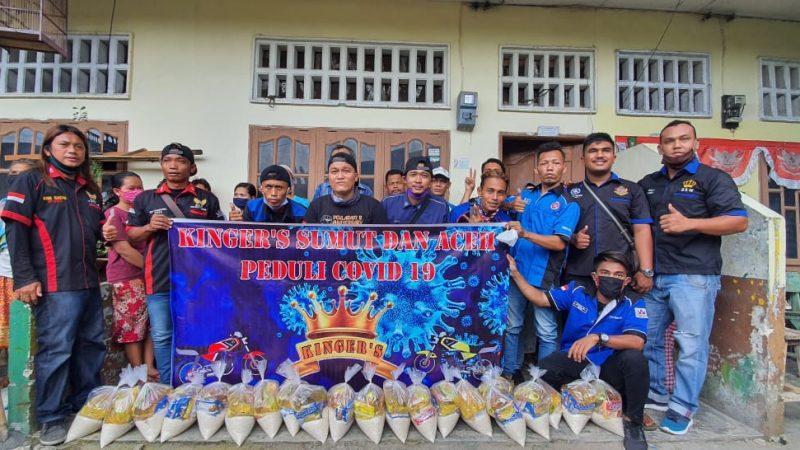 Komunitas RX-King Bagi-Bagi Masker dan Sembako di Kota Medan