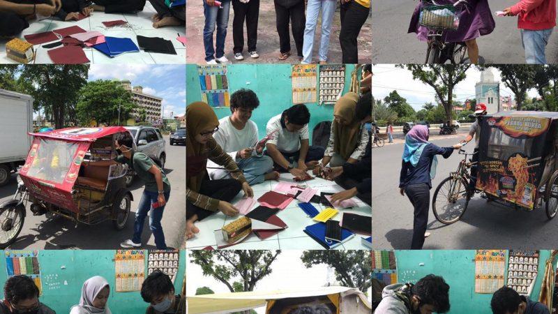 Pengabdian, KKN-BK UNIMAL Di Medan Berbagi Masker
