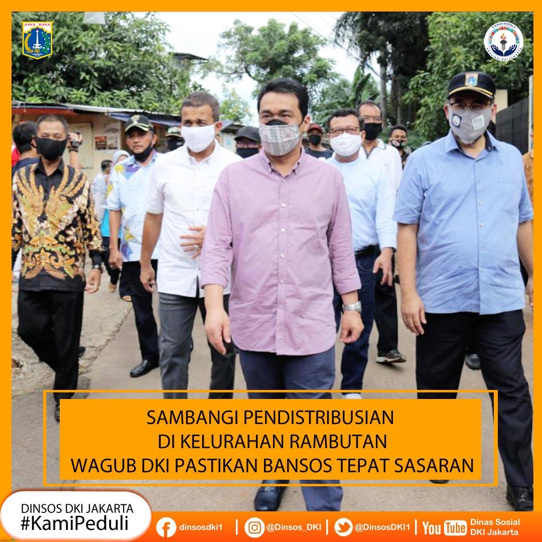 Wagub DKI Jakarta Memantau Jalannya Pendistribusian Bansos di Jakarta Timur