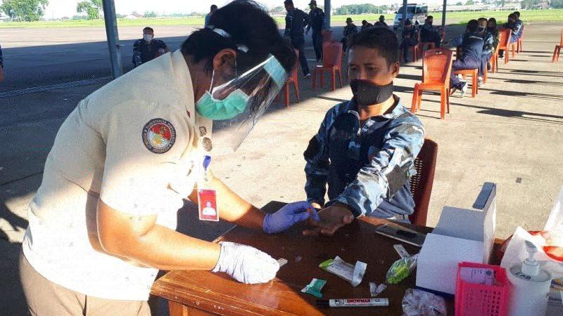 Antisipasi Penyebaran Covid 19, Lanud Soewondo Kembali Laksanakan Rapid Test