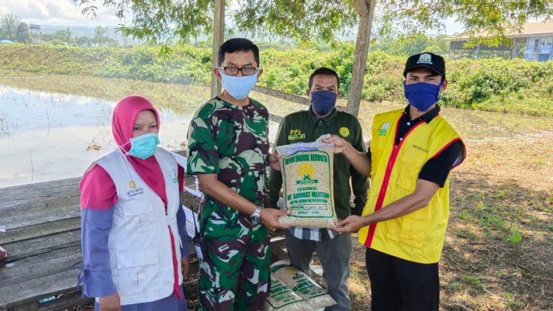 Lanud SIM Terima Bibit Padi Jenis Impari 44 dari Dinas Pertanian Kabupaten Aceh Besar