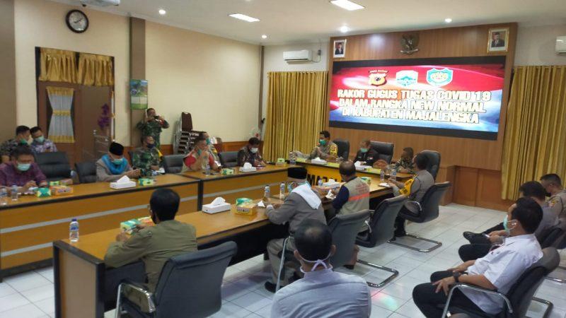 Polres Majalengka bersama Forkopimda Menggelar Rapat Koordinasi Tugas Covid-19, Dalam Rangka Anev New Normal