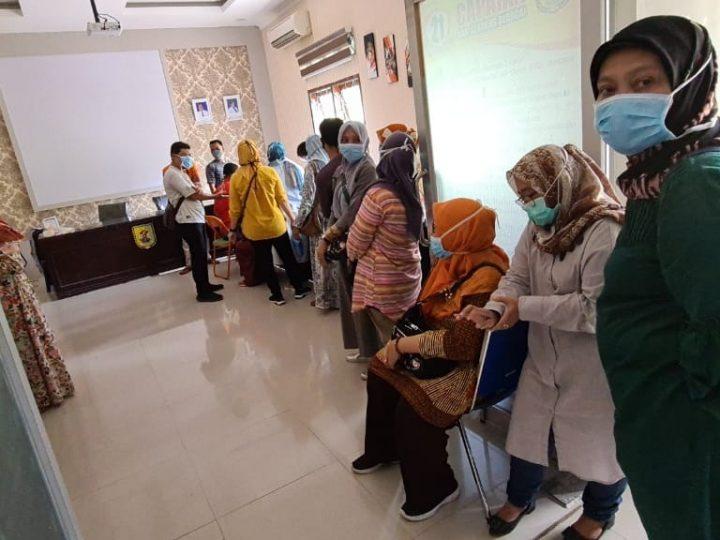 Dinas Kesehatan Gelar Rapid Test Terhadap Puluhan ASN Pemkab Sergai