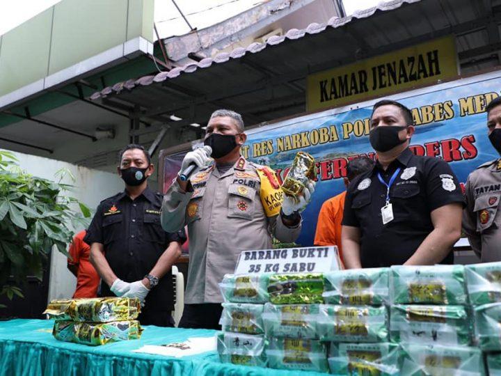 Satres Narkoba Polrestabes Medan Kirim Tersangka Pelaku Narkoba ke Liang Lahat