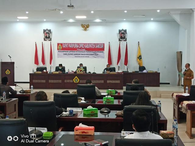 DPRD Samosir Rapat Paripurna LKPJ Bupati TA 2019