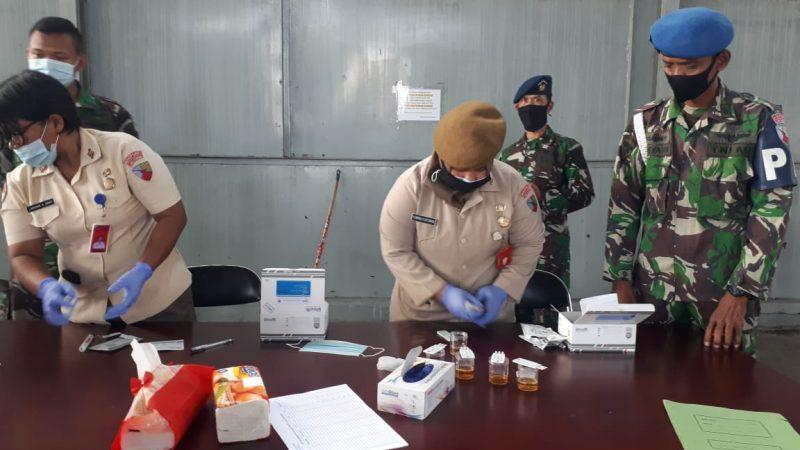 Hindari Penyalah Gunaan Narkoba, Lanud Soewondo Tes Urine Dadakan