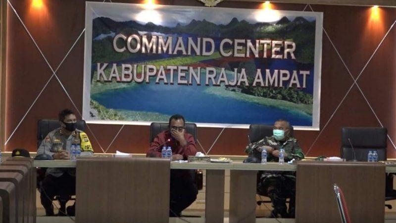 Bupati AFU Minta Satgas Covid Perketat  Izin Keluar Masuk Wilayah Raja Ampat
