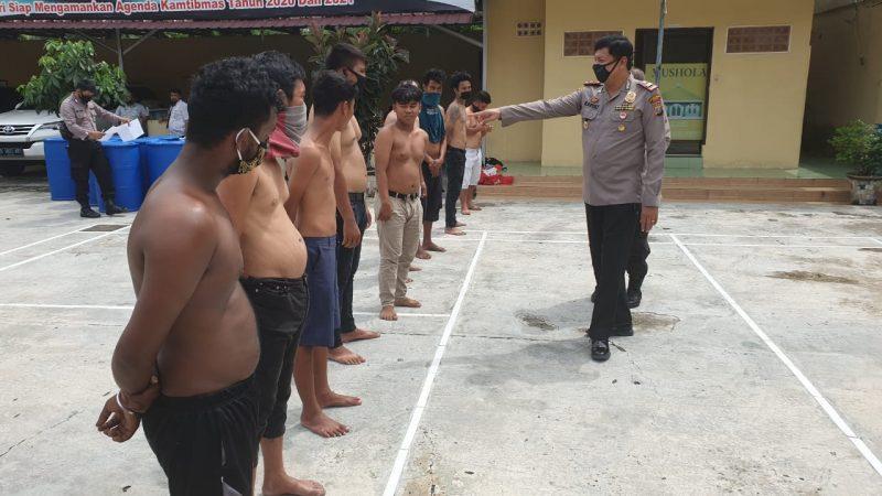 Polsek Medan Helvetia Jaring 9 Preman