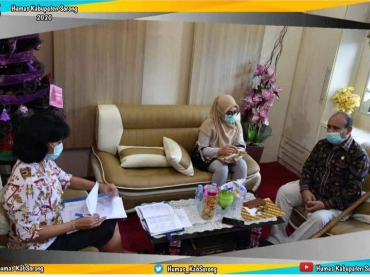 Cari Tahu Permasalahan Alokasi Anggaran Covid-19 di Pemda, Anggota DPD RI Temui Kepala BPKAD Kab.Sorong
