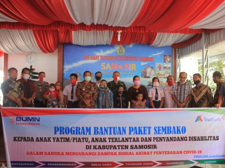 Pemkab Samosir Salurkan Bantuan Sembako dari PT. INALUM
