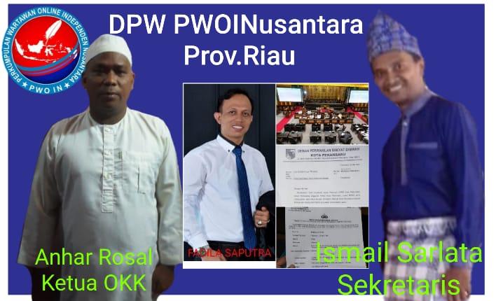 Anhar Rosal dan Ismail Sarlata Ketua OKK dan Sekretaris DPW PWOINusantara Riau Apresiasi Polresta dan Polsek se Jajaran di Kota Pekan Baru