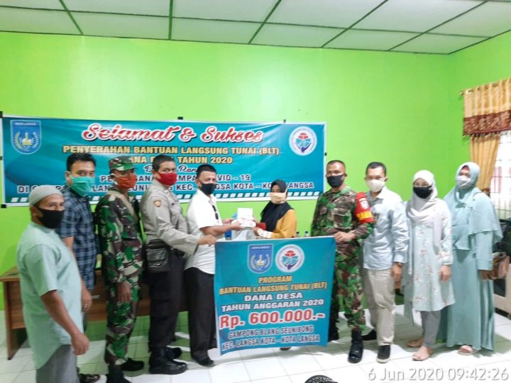 Gampong Blang seunibong Cairkan BLT-DD Tahap Pertama 126 Kepala Keluarga