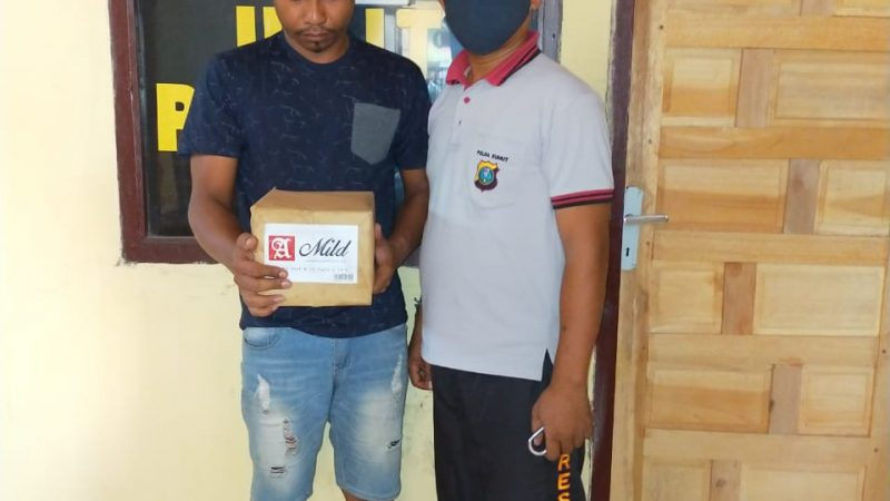 Kepergok Curi Rokok, Yudi Digelandang Ke Polsek Tanjung Beringin