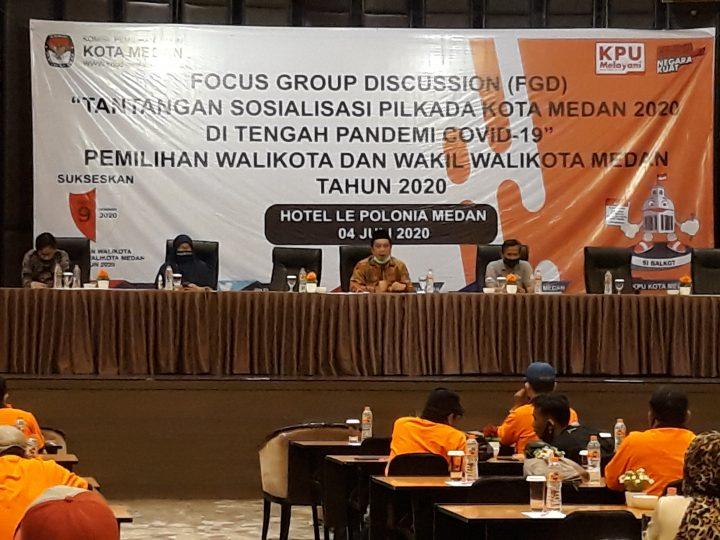 KPU Kota Medan Akan Terapkan Protokoler Kesehatan Pada Pelaksanaan Pilkada 2020