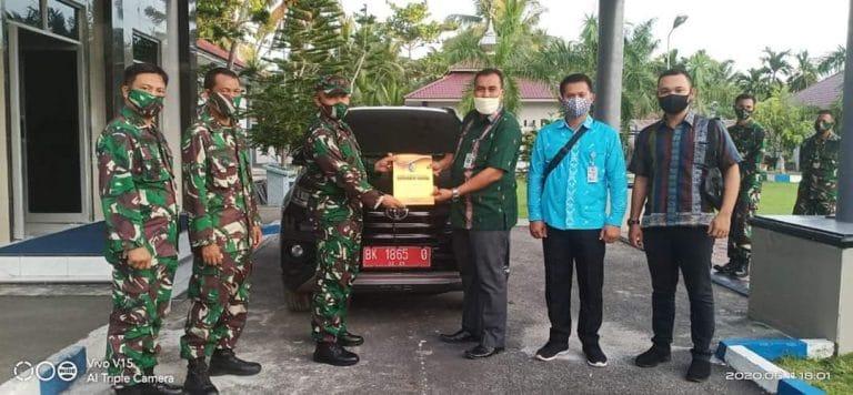 Bupati Batubara Hibahkan Satu Unit Mobil kepada Danlanal Tanjung Balai