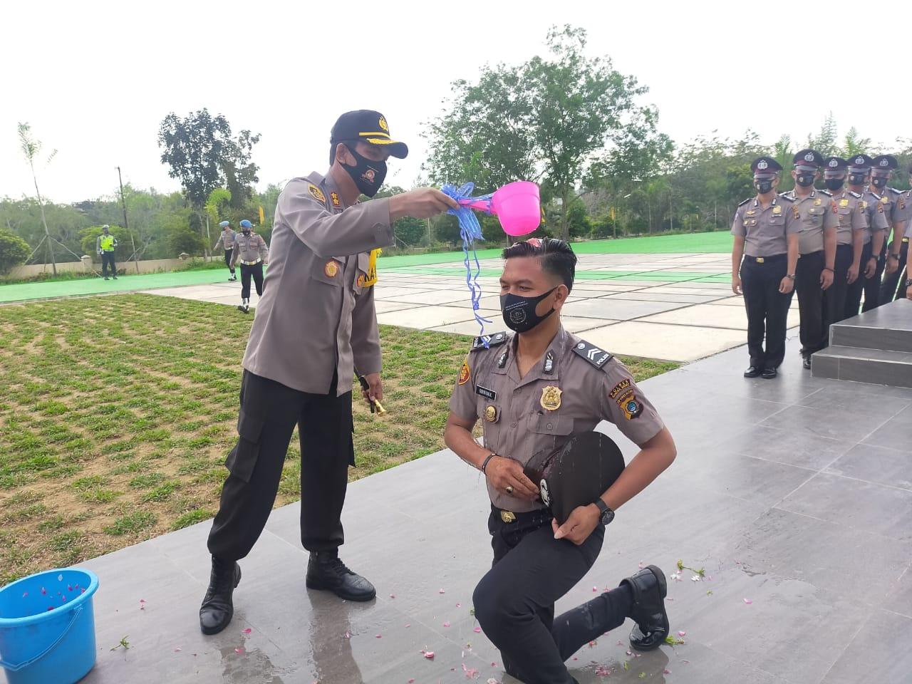 28 Personil Polres Bangka Barat Naik Pangkat Setingkat Lebih Tinggi
