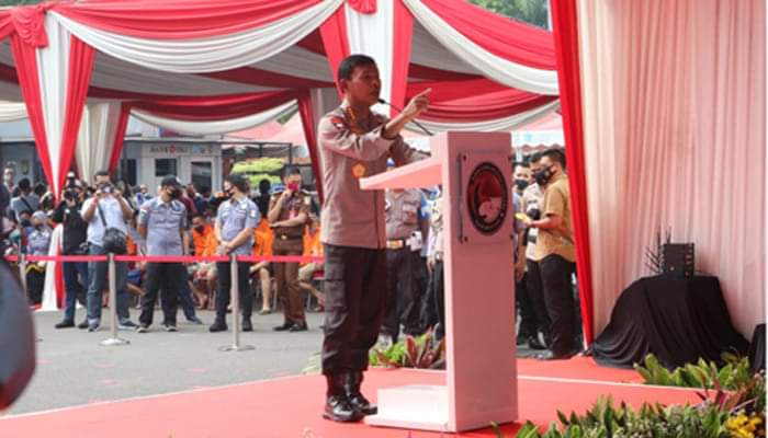 Kapolri Bersama Ketua MPR RI Musnahkan 1,2 Ton Sabu Jaringan Iran-Pakistan – Jakarta