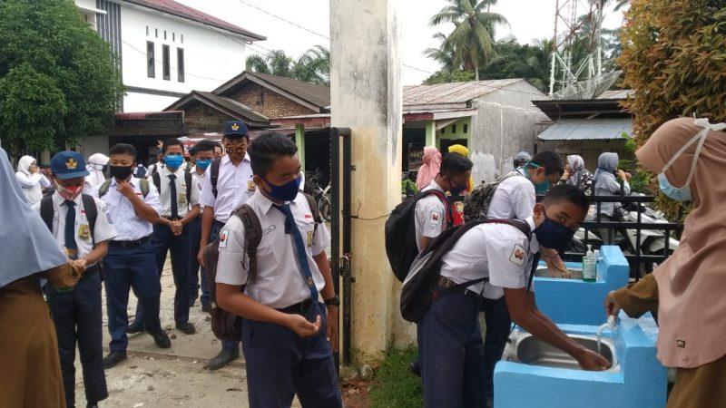 Belajar Tatap Muka, Sekolah Di Aceh Singkil Terapkan Prokes