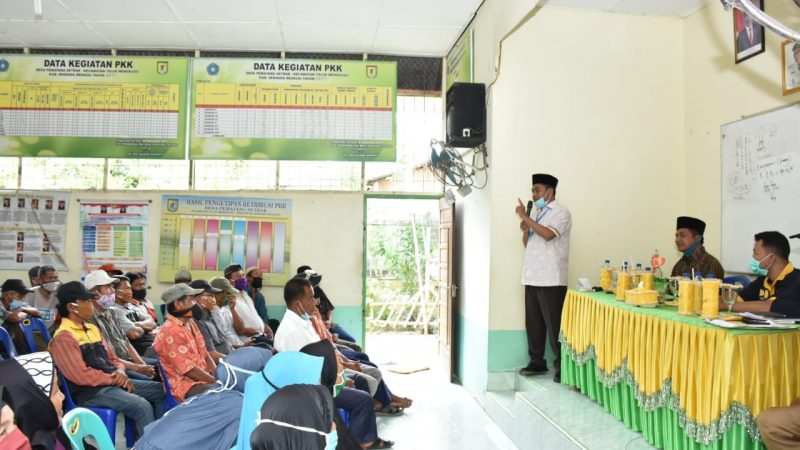 Wabup Sergai Hadiri Acara Sosialisasi BSPS di Desa Pematang Setrak