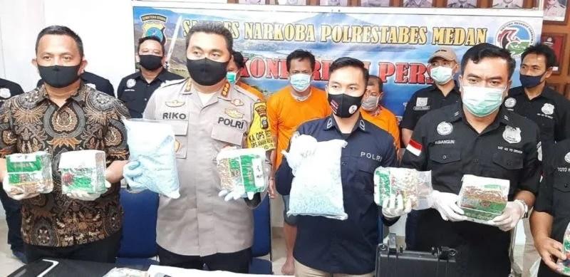 Sat Narkoba Polrestabes Medan Gagalkan Peredaran 15 kg Sabu,20000 Pil Ekstasi Dan Puluhan Bungkusan Klip Ganja