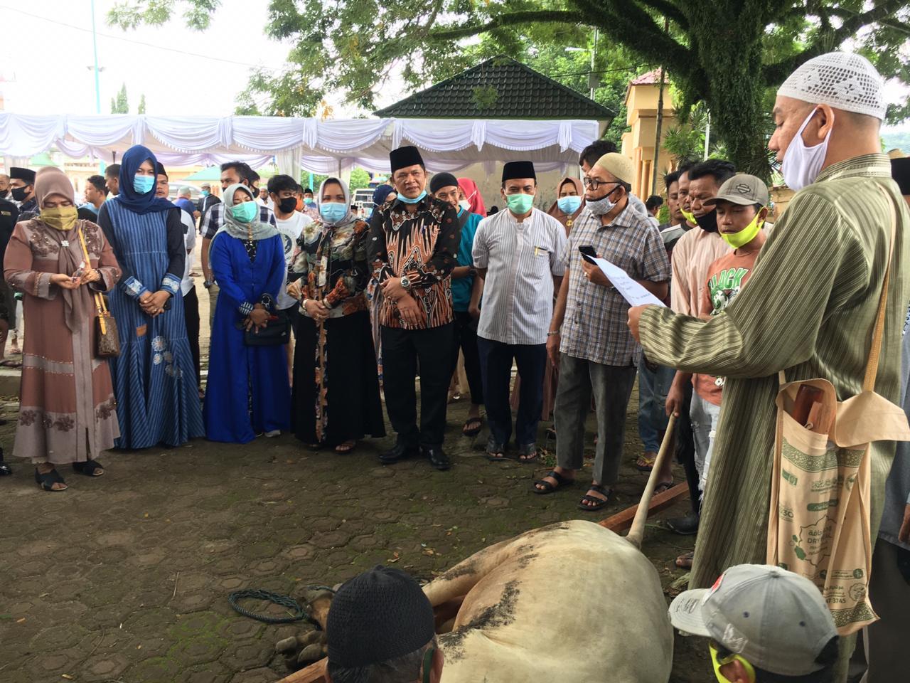 Pemko Padangsidimpuan Sembelih 9 Ekor Hewan Qurban