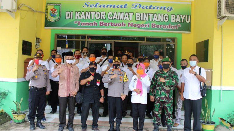 Cipta Kondisi Pilkada Kondusif, Kapolres Sergai Sambangi Kecamatan Bintang Bayu