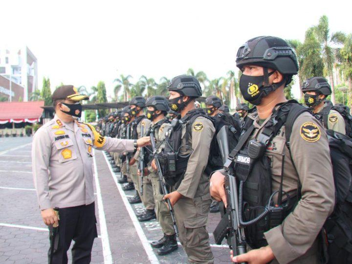 Kapolda Riau Lepas Penugasan Brimob BKO Polda Papua