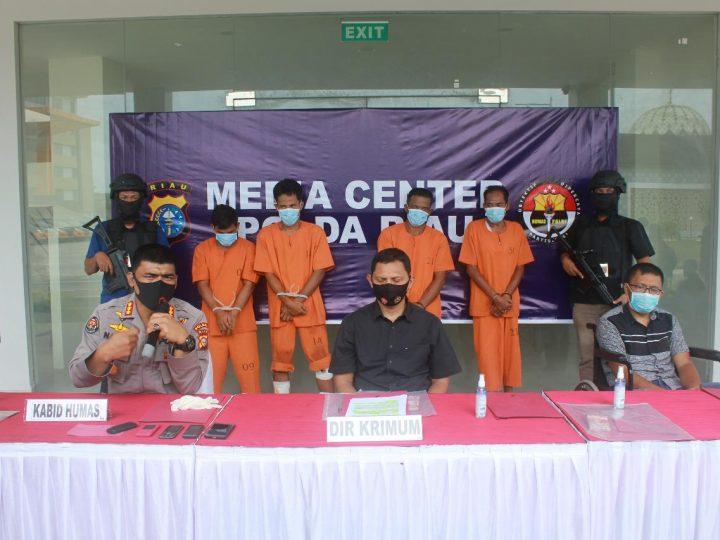 Pelaku CURAS Sadis, Tembak dan Bakar Mobil Korban Berhasil Diringkus DITKRIMUM POLDA Riau