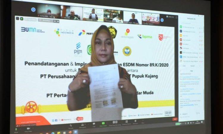 PGN Suplai Gas 54 BBTUD ke PT Pupuk Iskandar Muda