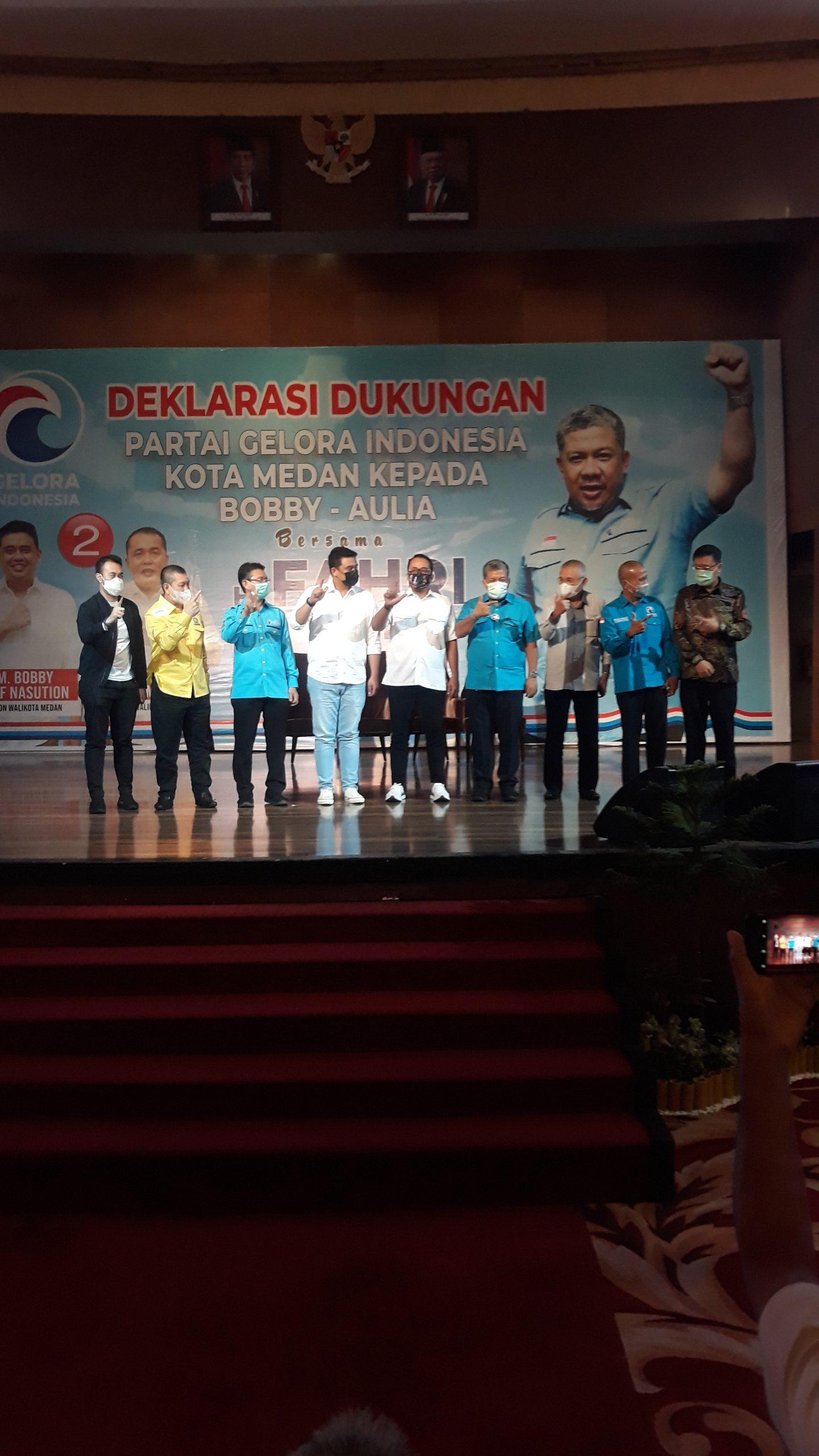 Bobby-Aulia: Partai Gelora Dengan Warna Biru Sebagai Pembakar Semangat Untuk Kemenangan Nomor Urut 2