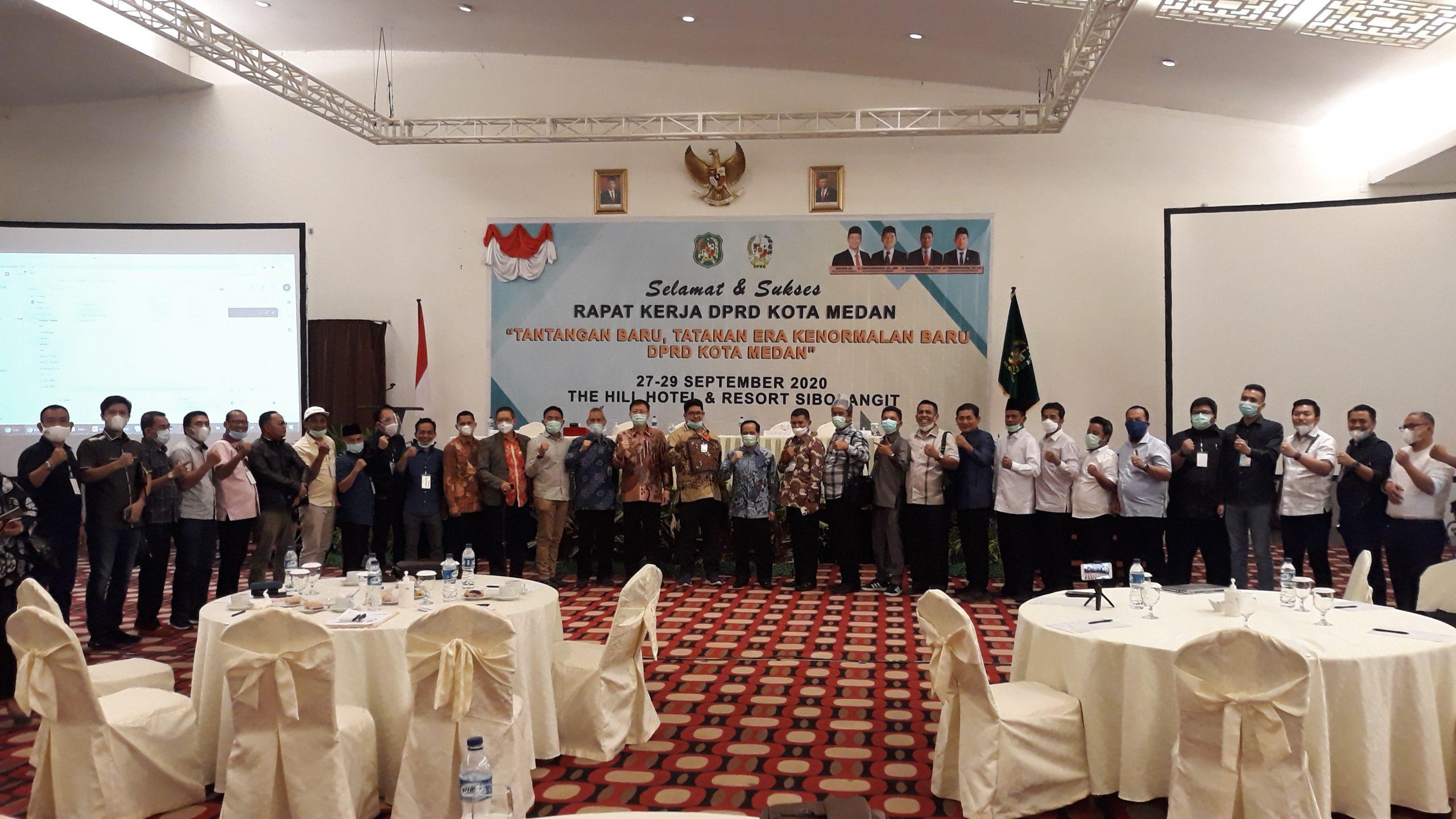 Raker DPRD Medan Membahas Anggaran di Era Kenormalan Baru