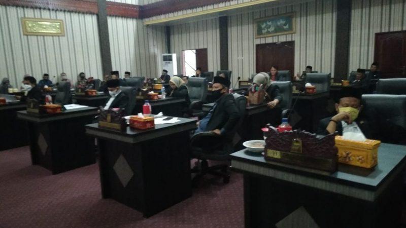 DPRK Aceh Singkil Gelar Paripurna Pandangan Umum APBK 2019