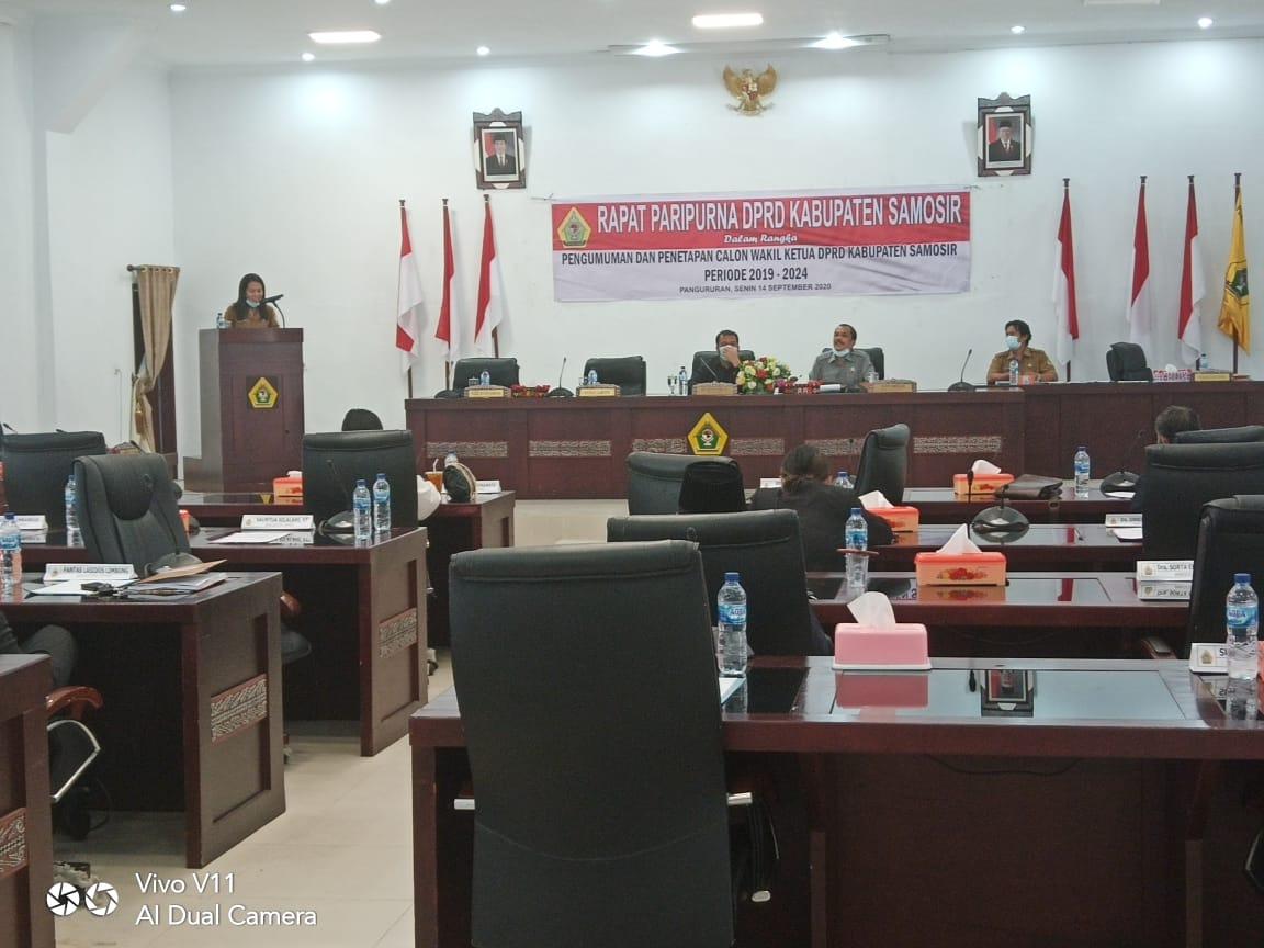 DPRD Samosir Rapat Paripurna P-APBD 2019