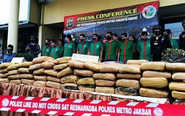 Polres Metro Jakarta Barat Ungkap Lima Kasus Besar Narkoba Selama Juli-Agustus 2020