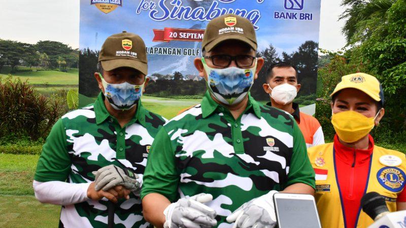 Kodam I/BB Bersama BRI dan Lions Club Medan Gelar Charity Golf for Sinabung