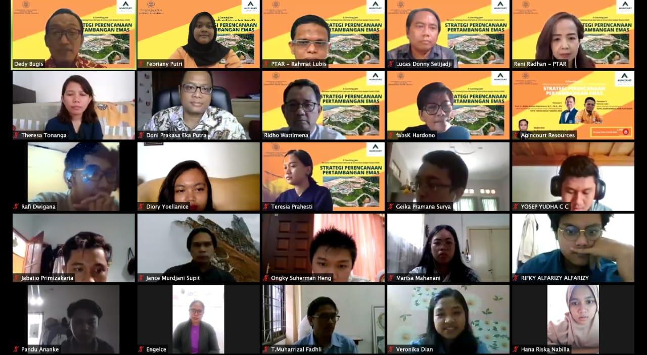 E-Coaching Jam 2020, Tambang Emas Martabe Berbagi Pengetahuan Merancang Pertambangan Emas