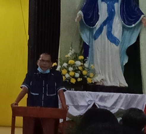 Antonius Tumanggor Hadiri Pelantikan Dewan Pastoral Paroki Santo Padre Pio Periode 2020-2025