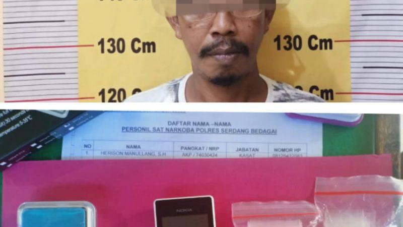 Satres Narkoba Polres Sergai Ciduk Bandar Sabu Tanjung Beringin
