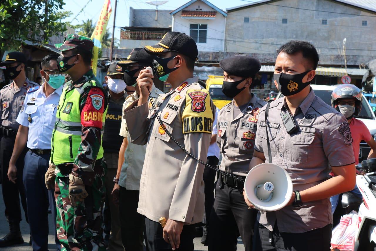 Kapolres Majalengka Bersama Gabungan TNI, Dishub dan Satpol PP Himbauan Penerapan Protokoler Kesehatan