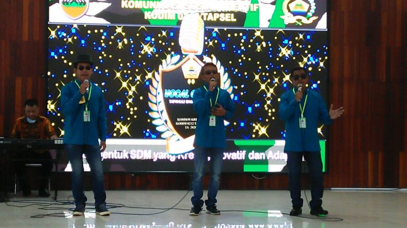 Kodim 0212/TS Menggelar Lomba Vocal Group Se – Tabagsel