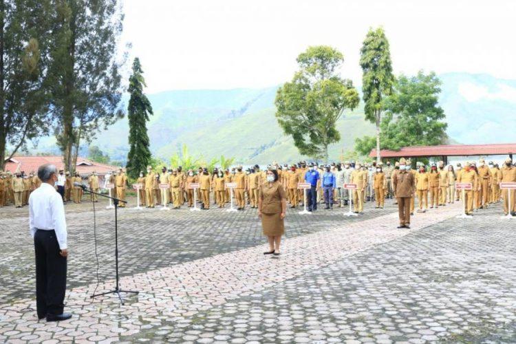 Apel Perdana, Pjs Bupati Samosir Minta ASN Netral di Pilkada