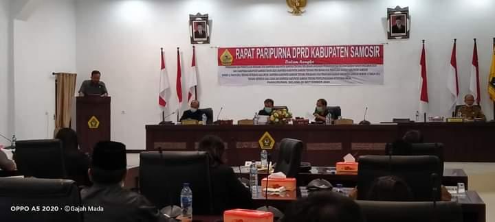 Renaldi Naibaho, Bacakan Pendapat Akhir Fraksi PDIP DPRD Samosir