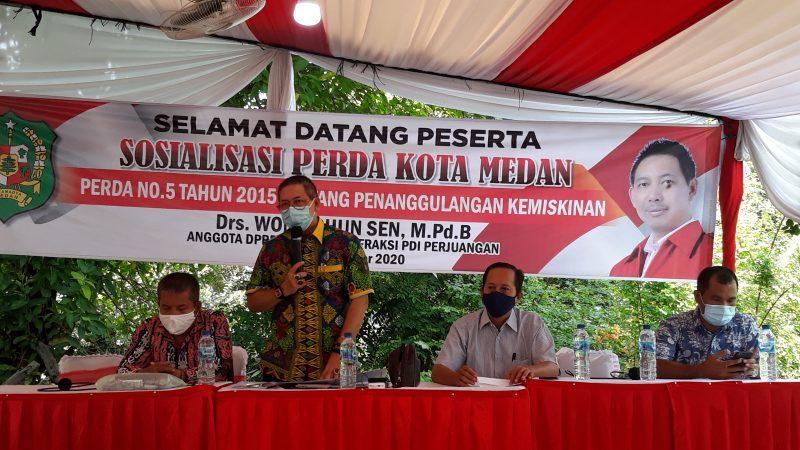 Wong Chun Sen Desak Pemko Medan Segera Keluarkan Perwal dari Perda No.5 Tahun 2015 Tentang Penanggulangan Kemiskinan di Kota Medan